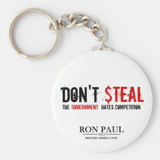 Don't Steal, The Government Hates Competition Basic Round Button Key Ring