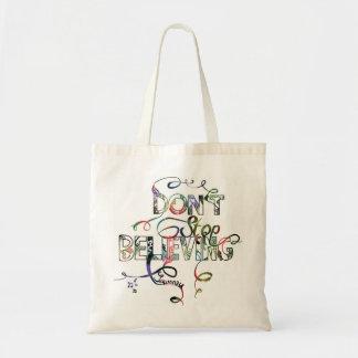 """Don't Stop Beleving"" Shopper Tote Bag"