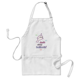 Don't Stop Believin' in Narwhals Standard Apron