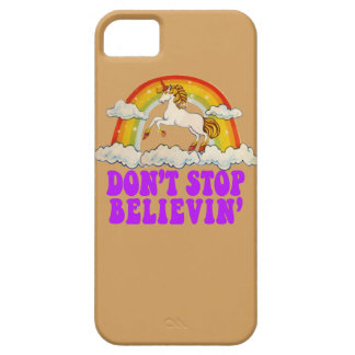 Don't Stop Believin' in Unicorns phone case