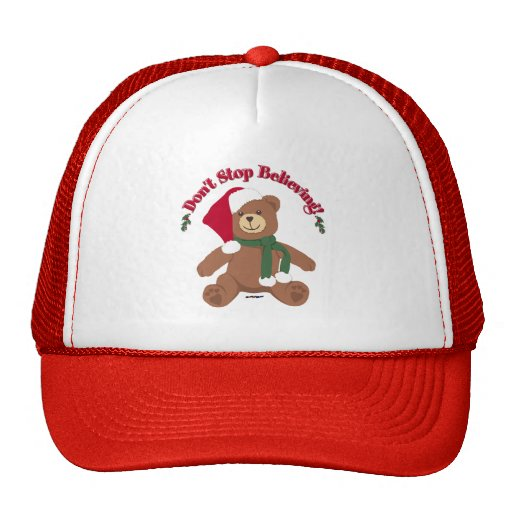 Don't Stop Believing! Christmas Bear Hat