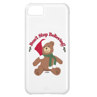 Don't Stop Believing! Christmas Bear iPhone 5C Case