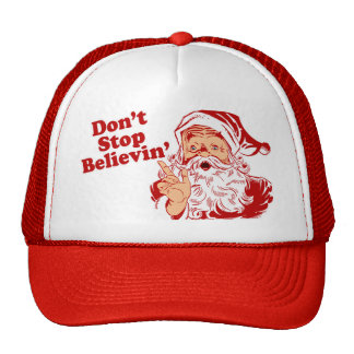Dont Stop Believing Christmas Mesh Hat