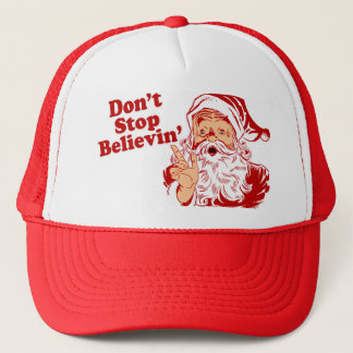 Dont Stop Believing Christmas Trucker Hat
