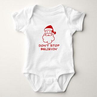 Don't stop believing | Funny Santa Claus jumpsuit