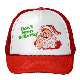 Don't Stop Believing In Santa Mesh Hats