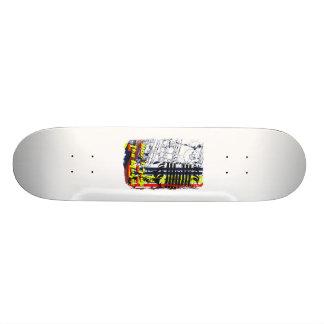dont stop music affected grunge image 19.7 cm skateboard deck