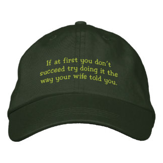 Don't Succeed - Funny hat Embroidered Hats