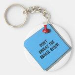 DON'T SWEAT SMALL STUFF MEMO BASIC ROUND BUTTON KEY RING