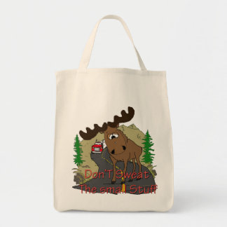 Don't sweat the small stuff grocery tote bag