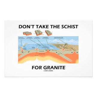 Don't Take The Schist For Granite (Geology Humor) Custom Stationery