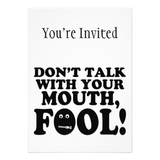 Don't Talk With Your Mouth Fool Cards