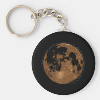 Don't tell me the moon is shining Chekhov quote Basic Round Button Key Ring