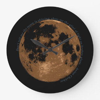 Don't tell me the moon is shining Chekhov quote Wall Clock