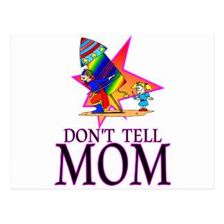 Don't tell MOM firework Postcard