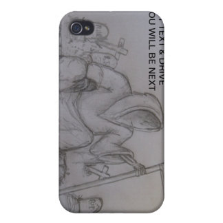 Don't Text & Drive Grim Reaper i iPhone 4/4S Cover