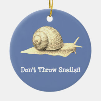 Don't Throw Snails Christmas Ornament