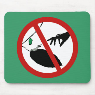 Don't Touch Caterpillars (1), Sign, California, US Mouse Pad