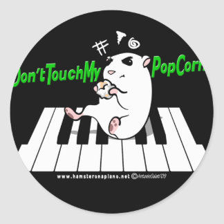 Don't Touch My Popcorn! Classic Round Sticker