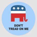 Don't tread on me 2 stickers