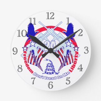 Dont tread on me 2A Round Clock