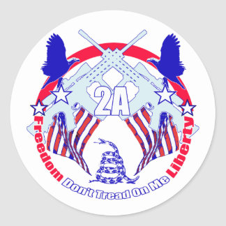 Dont tread on me 2A Round Sticker