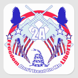 Dont tread on me 2A Square Sticker
