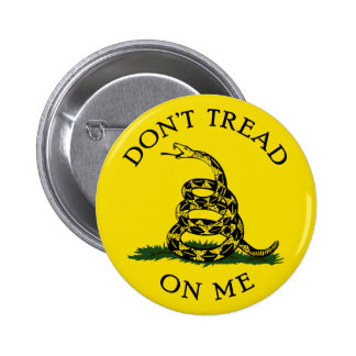 Dont Tread On Me 6 Cm Round Badge