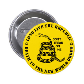 Don't Tread On Me 6 Cm Round Badge