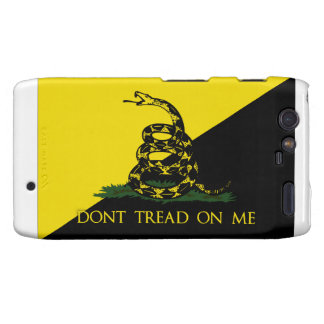Dont Tread On Me Anarchist Flag Motorola Droid RAZR Covers
