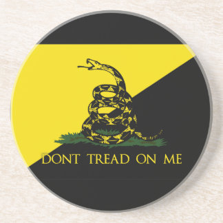 Dont Tread On Me Anarchist Flag Coaster