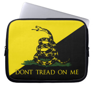 Dont Tread On Me Anarchist Flag Laptop Computer Sleeves