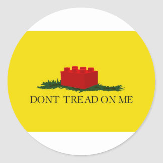 Don't Tread on Me (building block version) Round Sticker