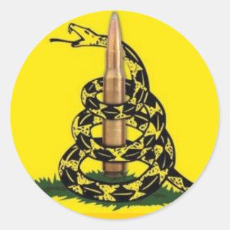 Don't Tread On Me Bullet Round Sticker