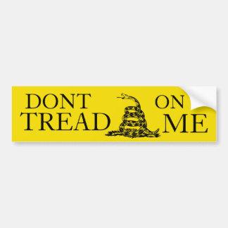 Dont Tread On Me bumper sticker Car Bumper Sticker