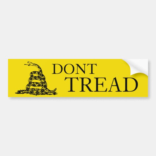Dont Tread On Me bumper sticker
