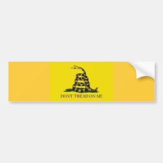 Dont tread on me car bumper sticker