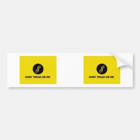 Don't Tread On Me $ Bumper Sticker 2 for 1