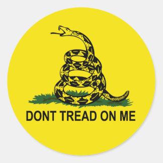 Dont Tread On Me Classic Round Sticker