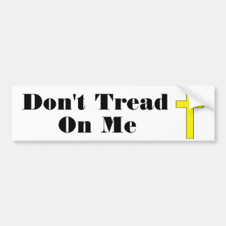 Don't Tread On Me  Cross Religious Freedom Sticker
