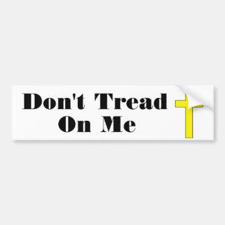Don't Tread On Me  Cross Religious Freedom Sticker Bumper Sticker