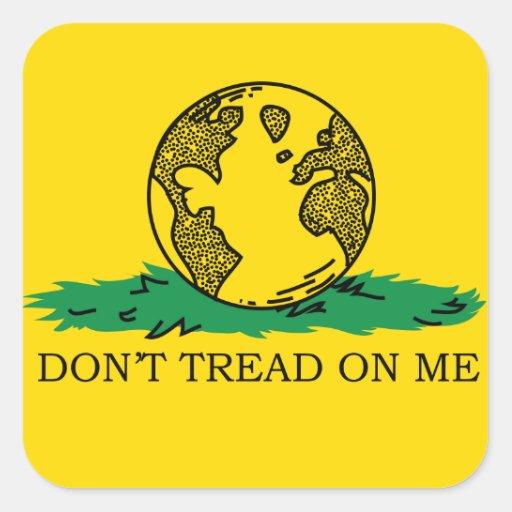 Don't Tread on Me Earth Bumper Sticker