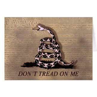 Don't Tread On Me Event Greeting Card