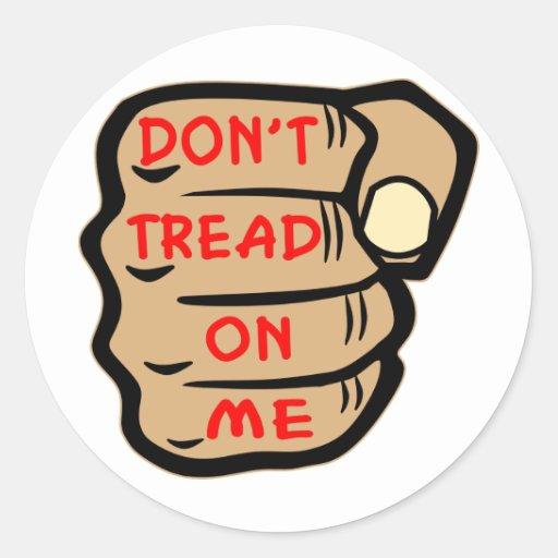 Don't Tread On Me Fist Tattoo Stickers