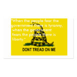 Dont tread on me flag cards business cards