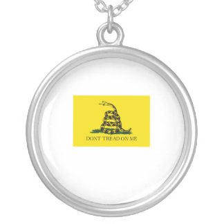Don't Tread on Me Flag Round Pendant Necklace