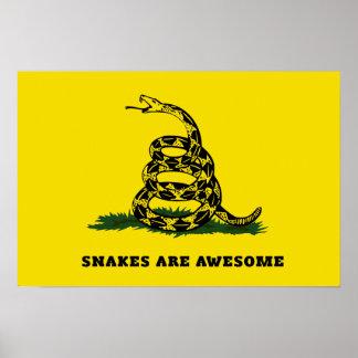 Don't tread on me flag parody poster