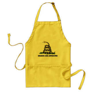 Don't tread on me flag parody standard apron