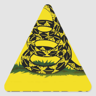 Don't Tread On Me flag Triangle Stickers