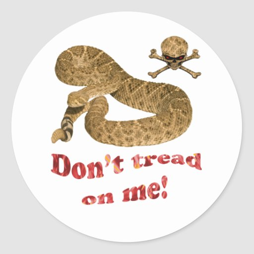 Don't tread on me (flames) sticker